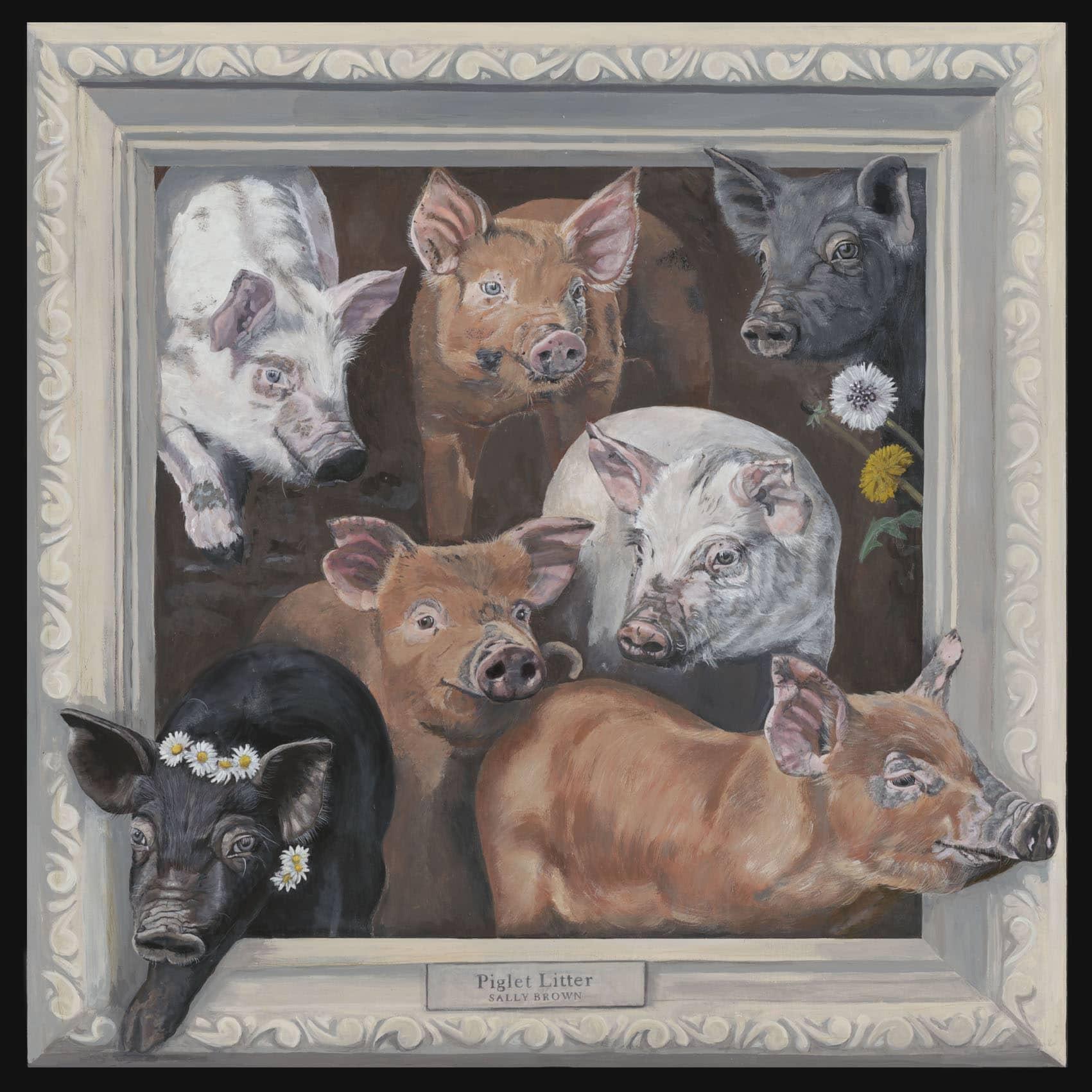 Piglets canvas