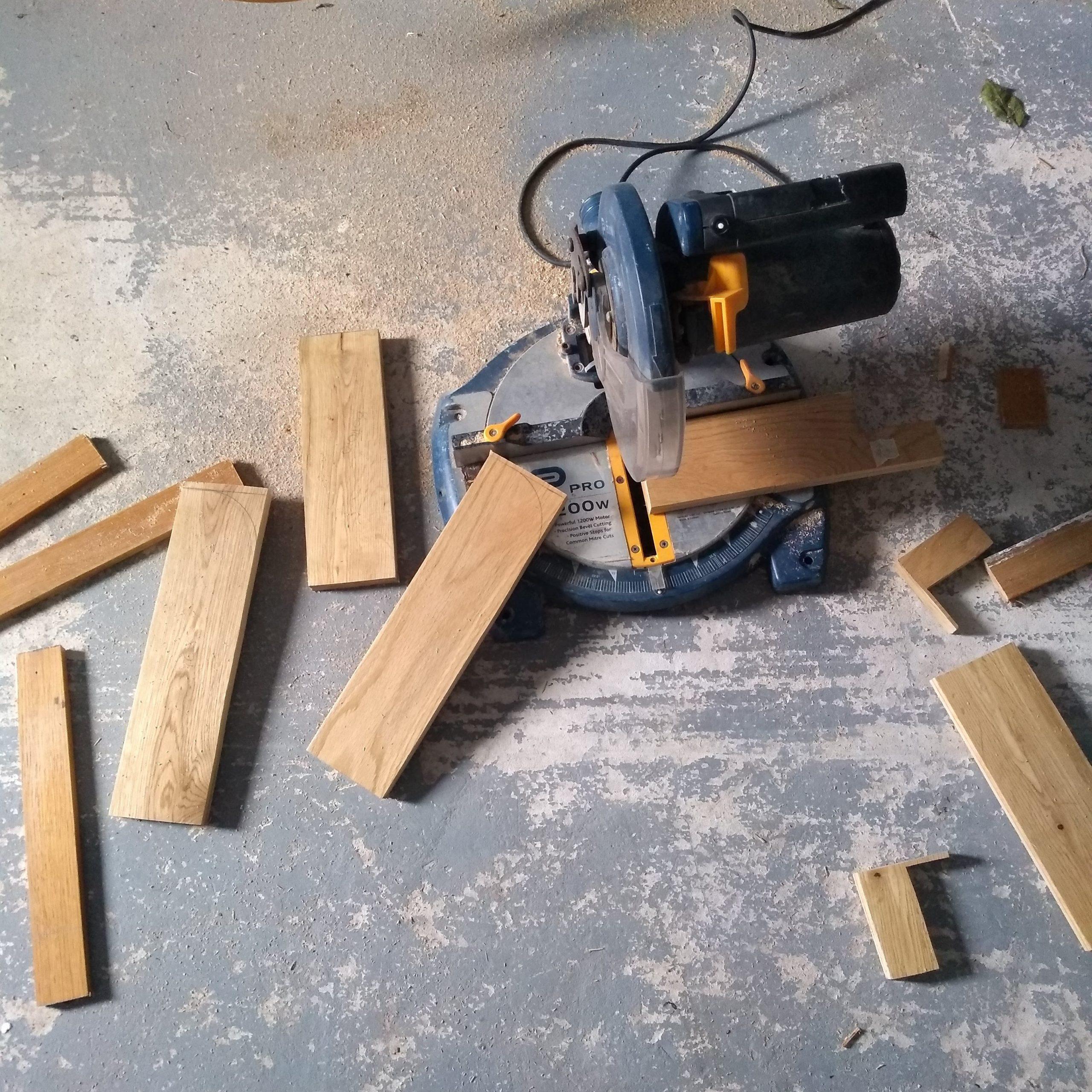 door storage cutting