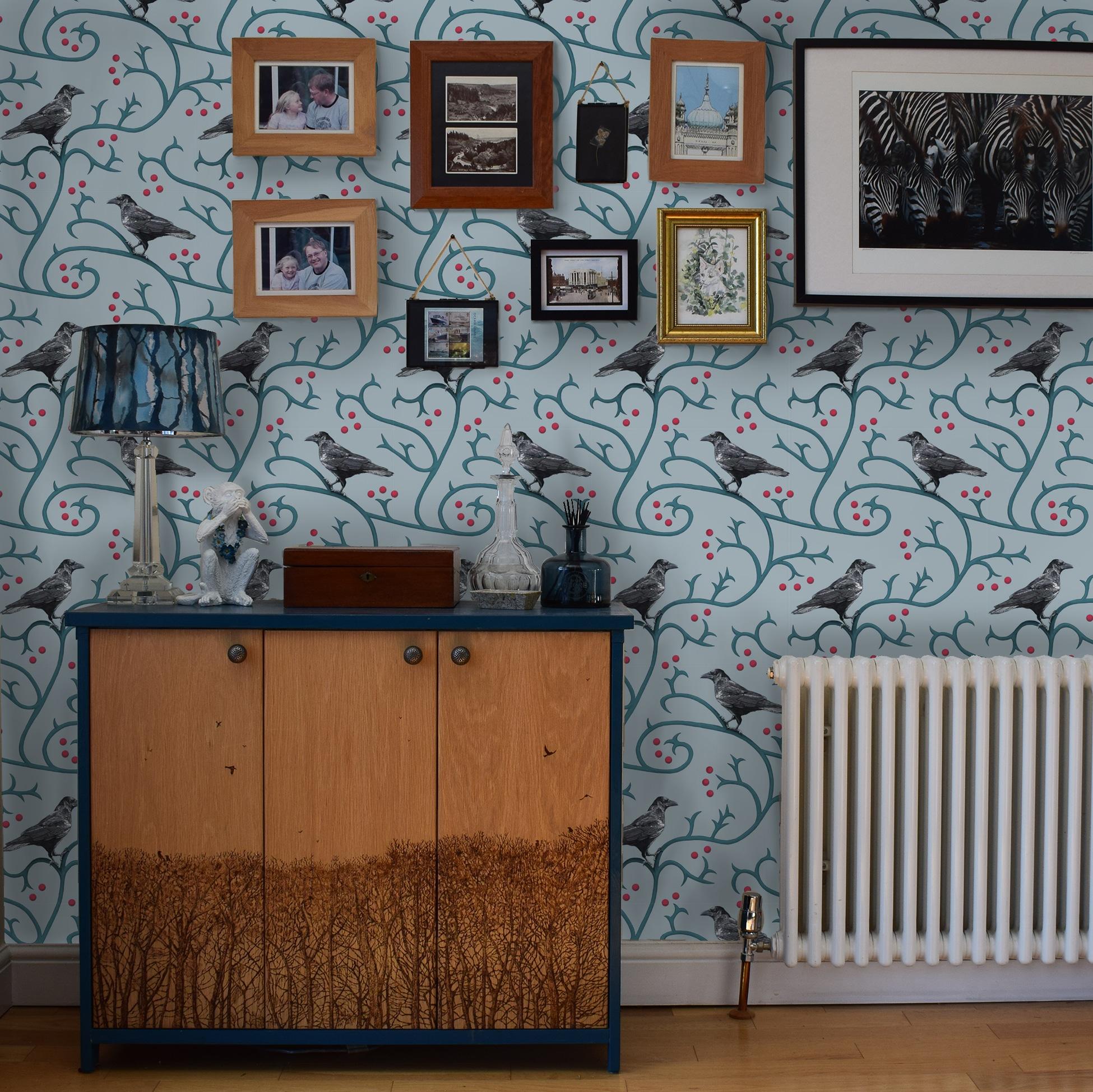 crow-wallpaper-room
